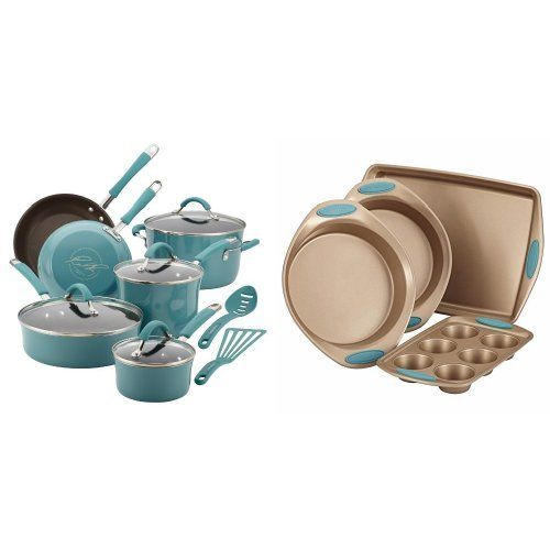 Rachael Ray Cucina Hard Porcelain Enamel Nonstick Cookware Set 12