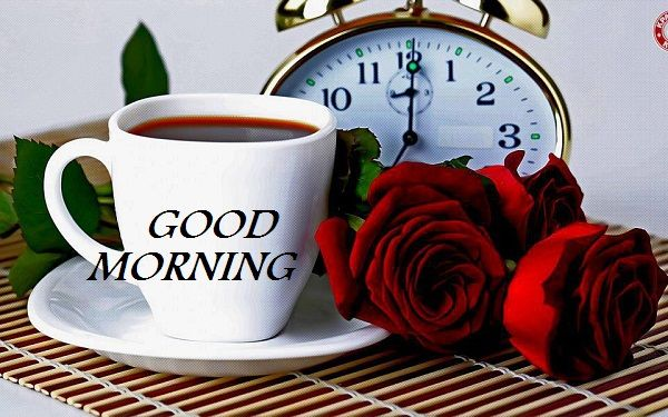 Good Morning Beautiful Tea Cups With Lovely Morning Wishes