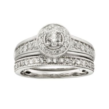 tw diamond 14k white gold bridal ring set found at jcpenney - Jcpenney Wedding Ring Sets
