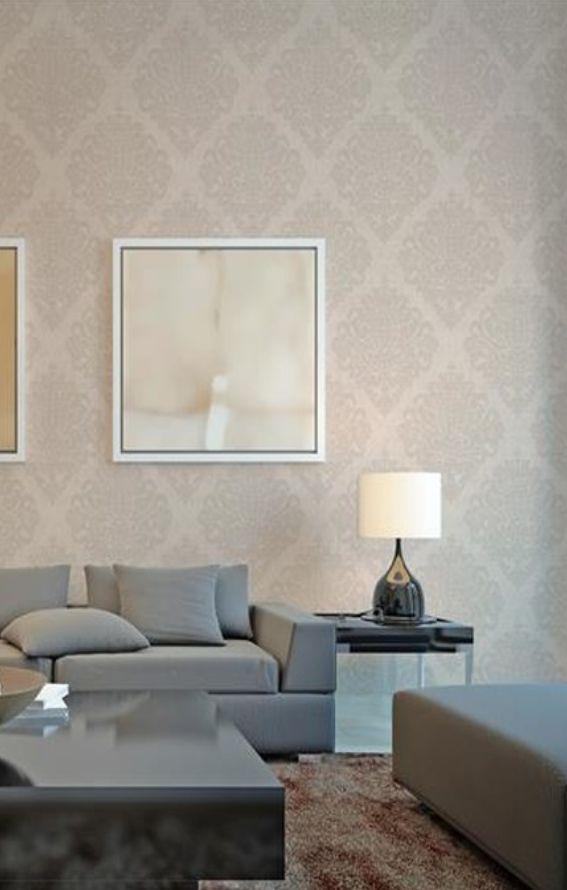 rasch-textil sahara 100607 grau-braun silber ornament-muster ... - Wohnzimmer Braun Silber