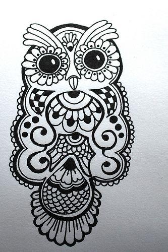 Lydia Lark Whoo S Too Cute Cute Owl Tattoo Owl Tattoo Design Henna Drawings
