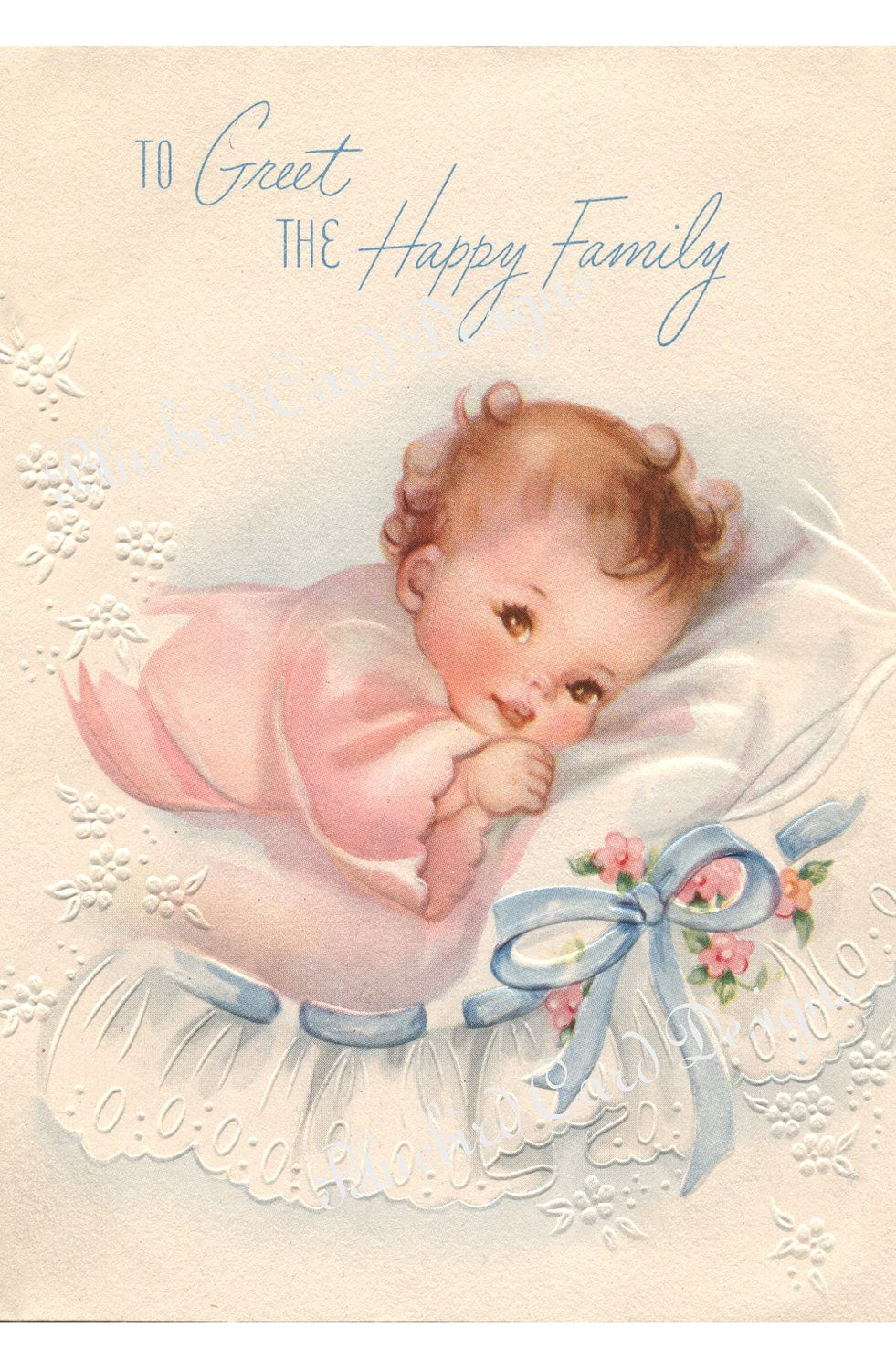 Card Vintage Baby Girl Via Etsy Omg This Is The One My Parents