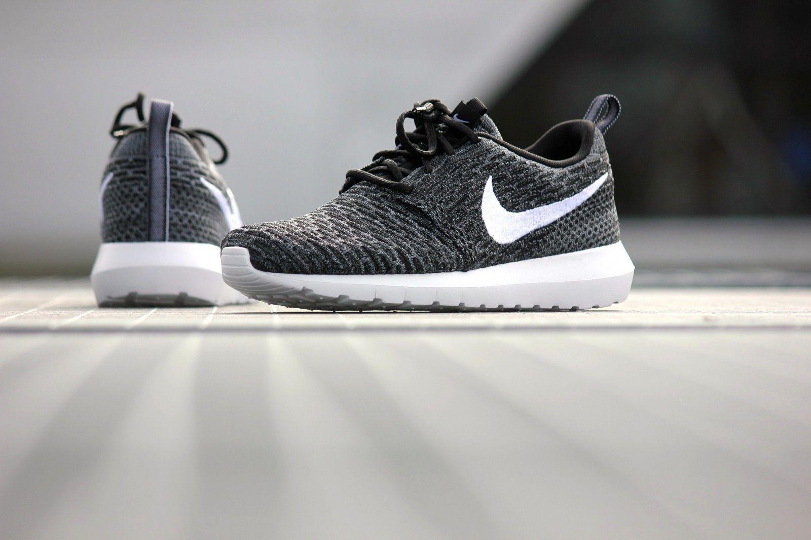 Nike Roshe NM Flyknit Black White - 677243-010
