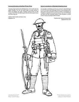 Coloring Page Soldier Wwi Img 4262 Coloring Pages Color Canadian Soldiers