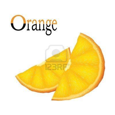 Stock Vector | Orange, Orange wedges, Clip art