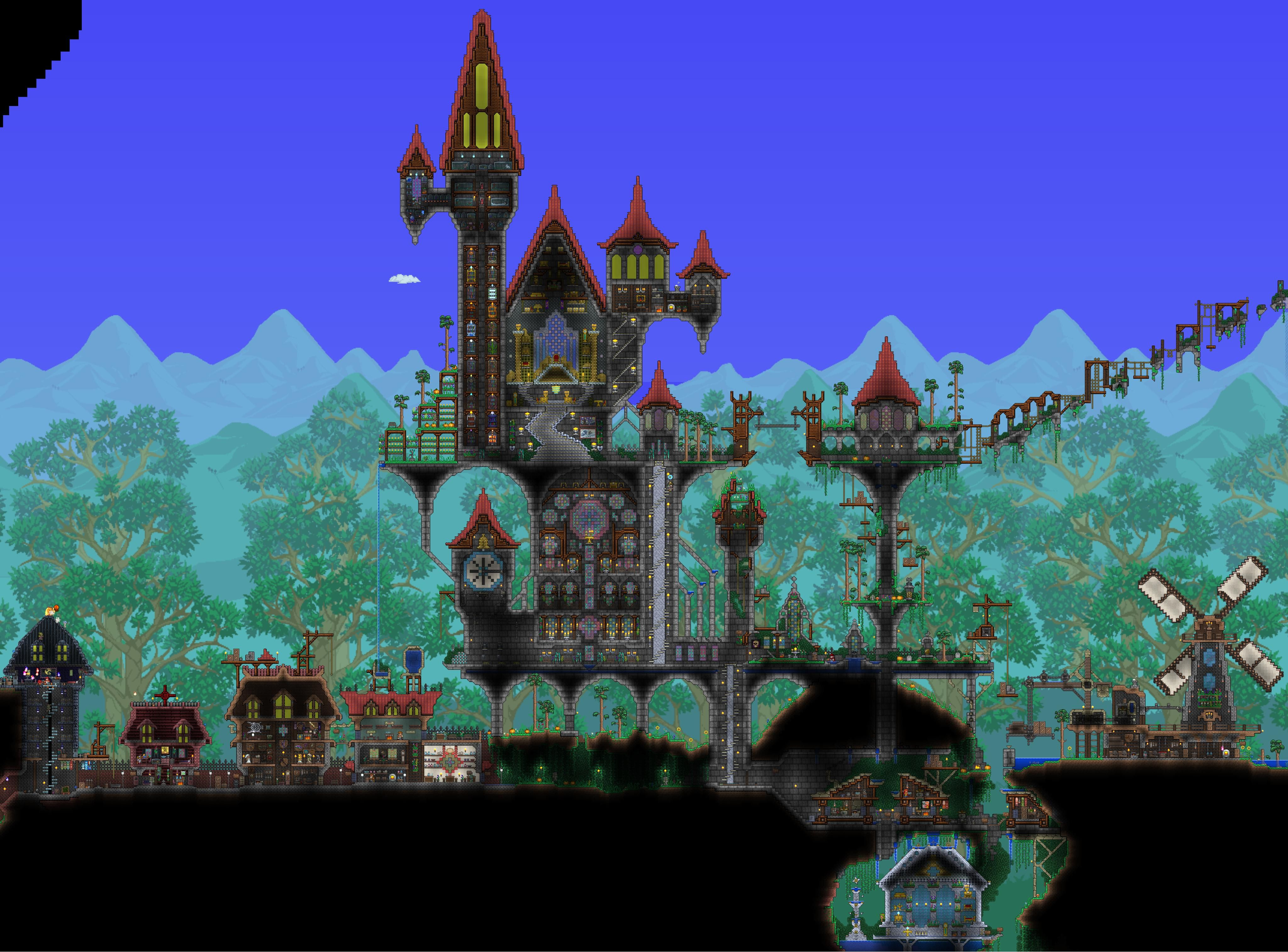 Terraria Castle Terraria Castle Terrarium Terraria House Ideas