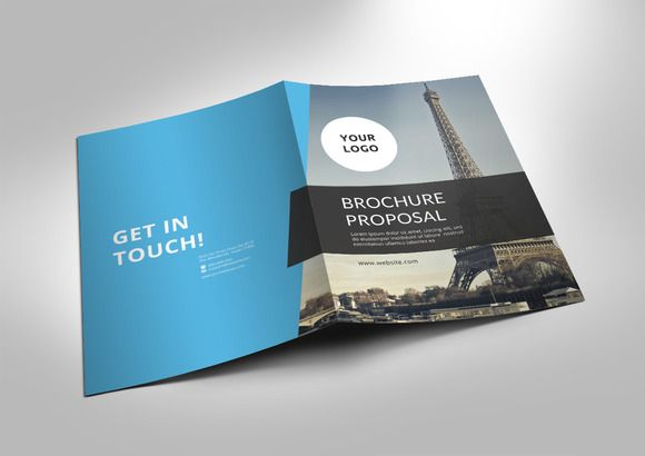 Unique Bi-fold brochure by Azgraphic99 on @creativemarket Stuff to