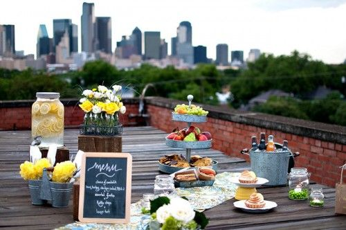 Rooftop Picnic Wedding Theme Ideas Picnic Wedding Rooftop Wedding Picnic Inspiration
