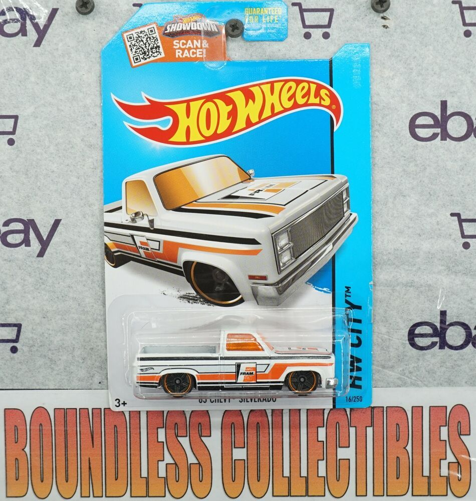 Hot Wheels Toys R Us Exclusive 1983 83 Chevy Silverado White Fram