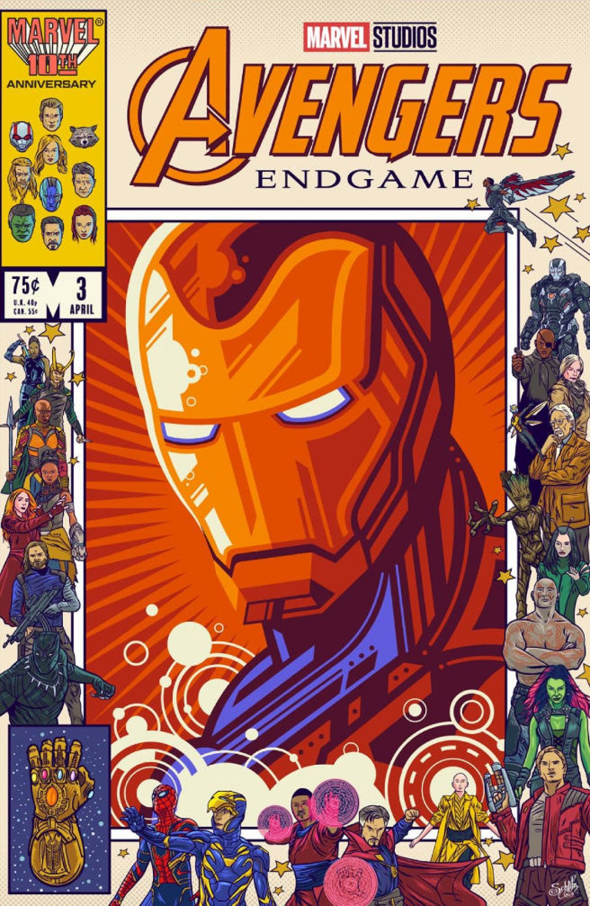 Awesome Art We've Found Around The Net: Avengers Endgame Tribute Special