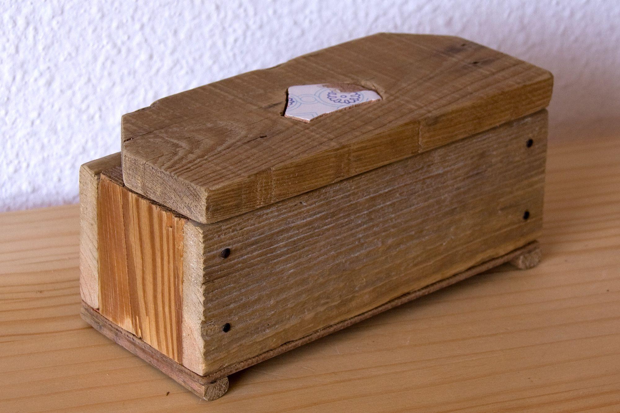 Caja Cofre 5 Maderas Con Cer Mica Es Una Caja De Cinco Distintas