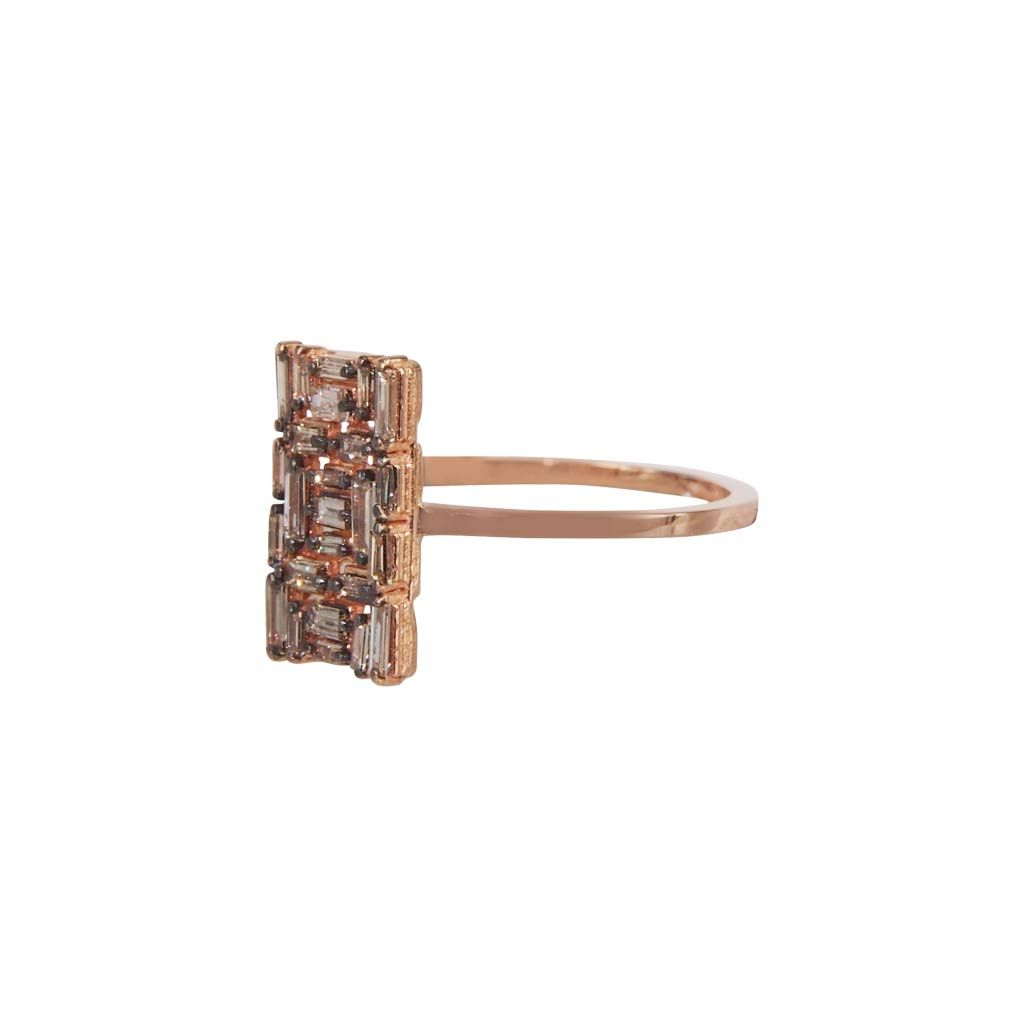 Fireworks 18K Rose Gold Champagne Diamond Ring Plukka Shop Fine