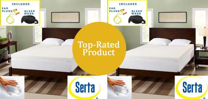 Serta 3 Inch Premium Memory Foam Mattress Topper Review With Images Mattress Topper Reviews Memory Foam