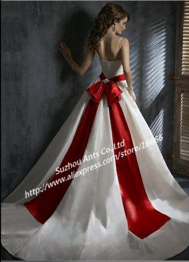 vestidos de casamiento con detalles rojos cinta mg358 blet rojo de