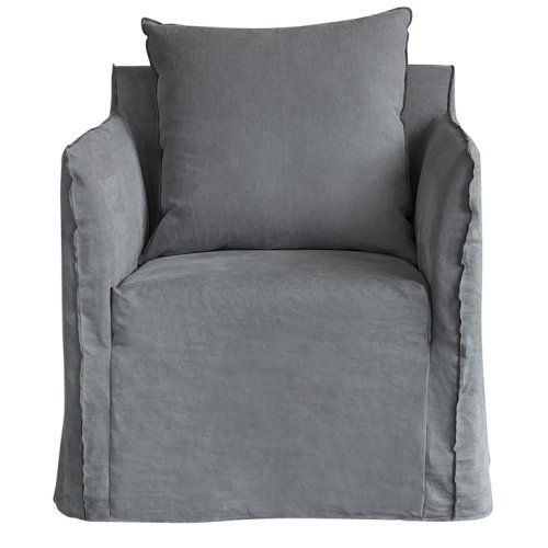 The Joe Armchair In Contemporary Grey Linen Urban Couture