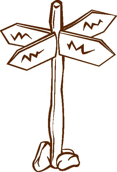 Crossroads Crossroad Sign Map Symbols Clip Art