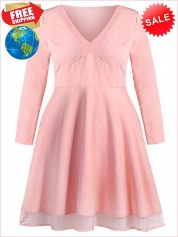 add1de6e10d Best Prices Plunging Neck Plus Size Empire Waist A Line Dress 5478132  q7CbXV2h56ZDMWyOJurI Cheap Sale  RoseGal.com