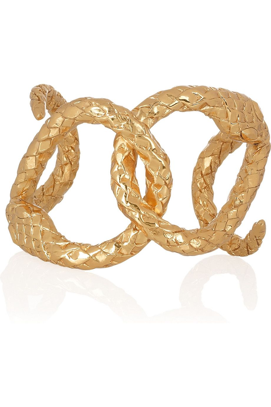 adf0c18dc06 Yves Saint Laurent gold-plated brass serpent cuff   The Dragon's ...