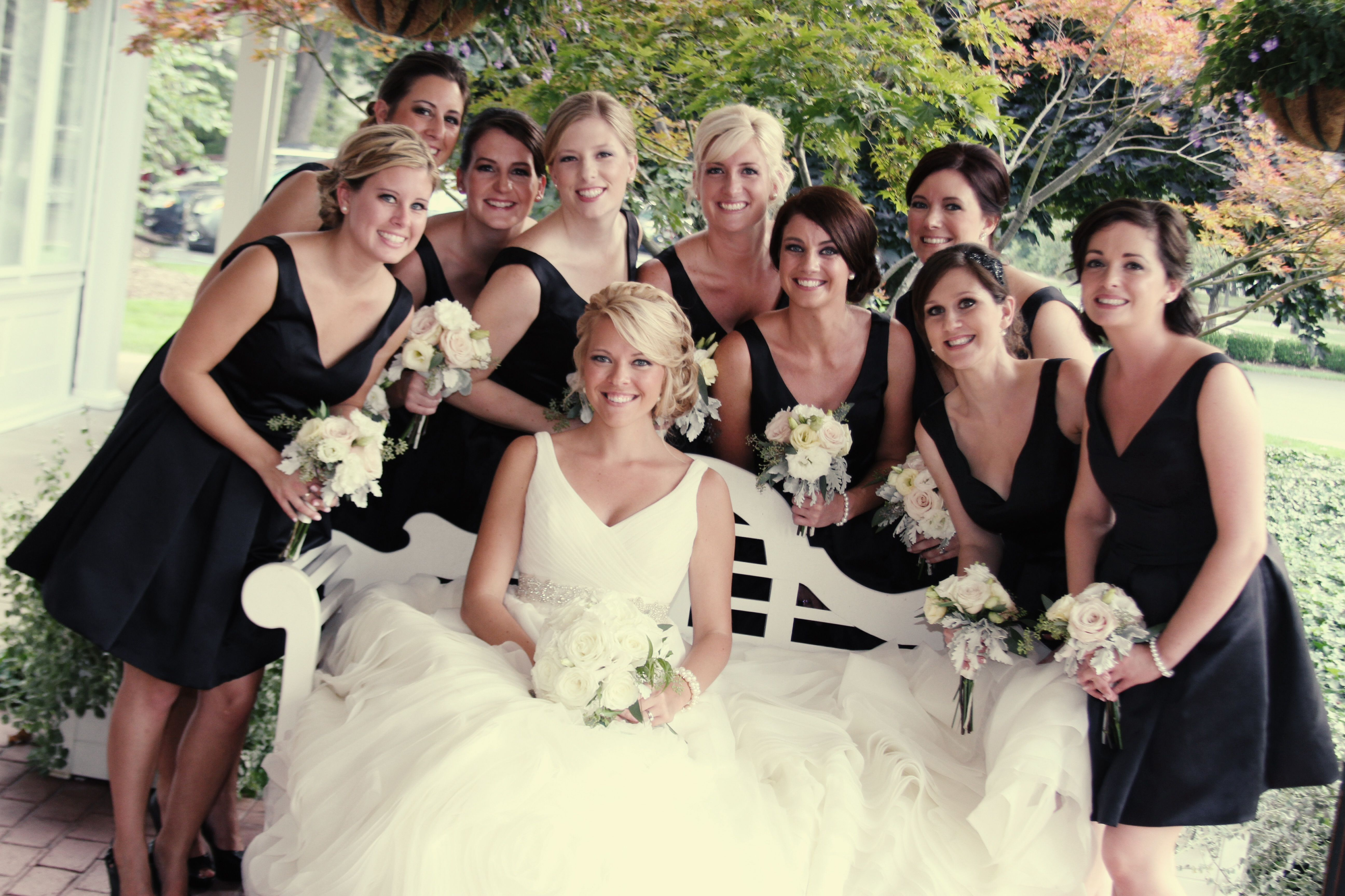 Vera wang bridal gown black bridesmaid dresses ivory flowers vera wang bridal gown black bridesmaid dresses ivory flowers ombrellifo Image collections