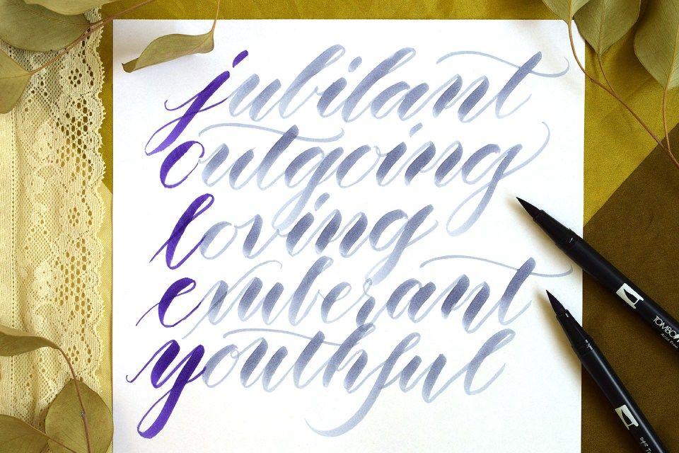 Free brush pen calligraphy worksheet brush pen brush pen