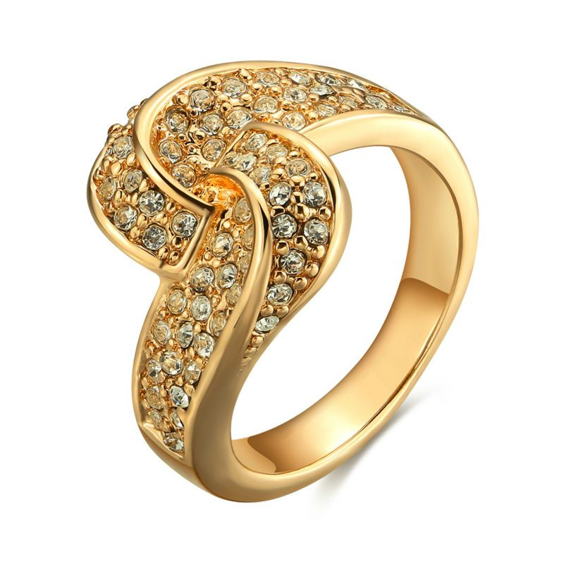 Vogue Gold & Rose Gold Colorful Micro Pave Rhinestones Screw Rings ...