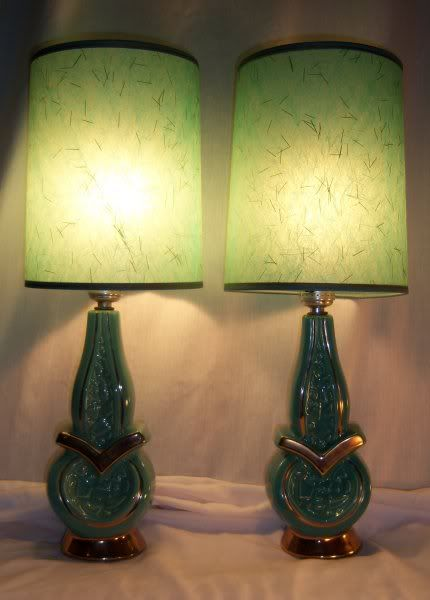 Very Vintage Lamps in Aqua.