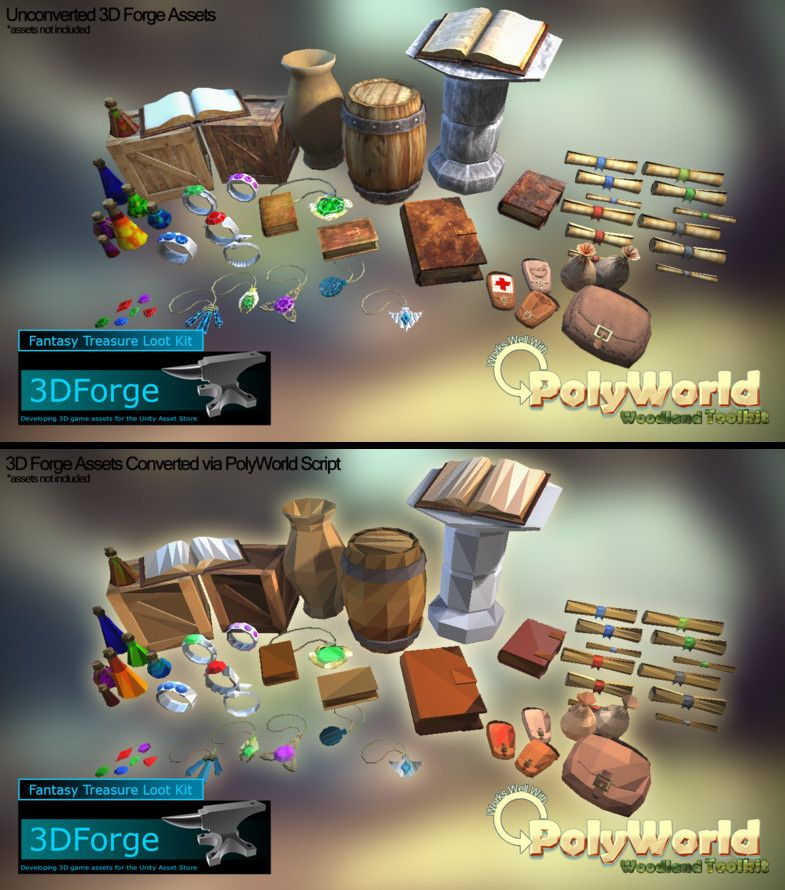 PolyWorld Woodland Low Poly Toolkit Low poly, Game