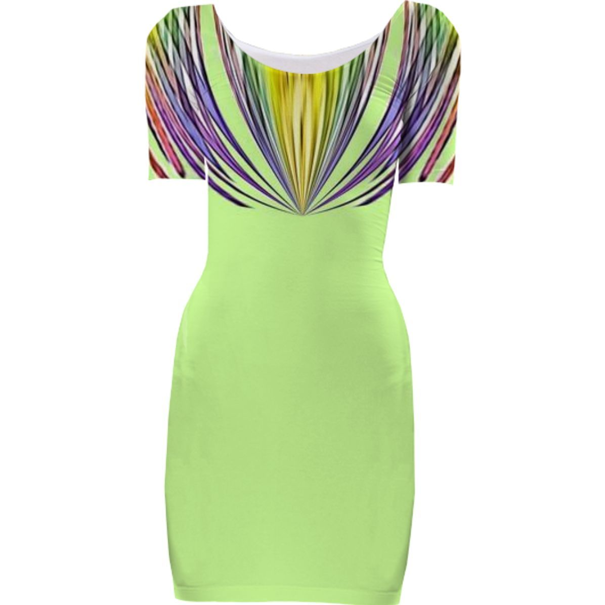 Green Stripe Top Bodycon Dress from Print All Over Me