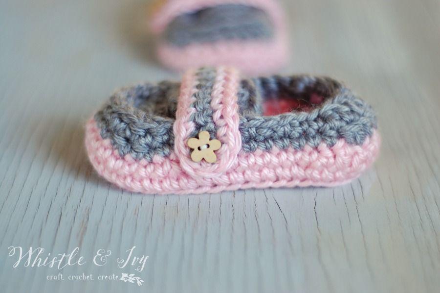 Monk Strap Booties Crochet Pattern Free Crochet Crochet And Patterns