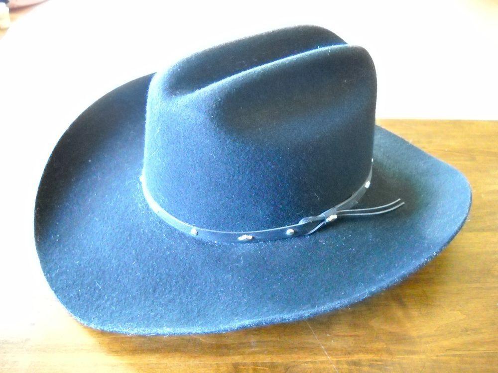 #Stallion by #STETSON #Calhoun #Black #Wool XX #Cowboy #Hat 7 1/4, NWOT #Cowboy