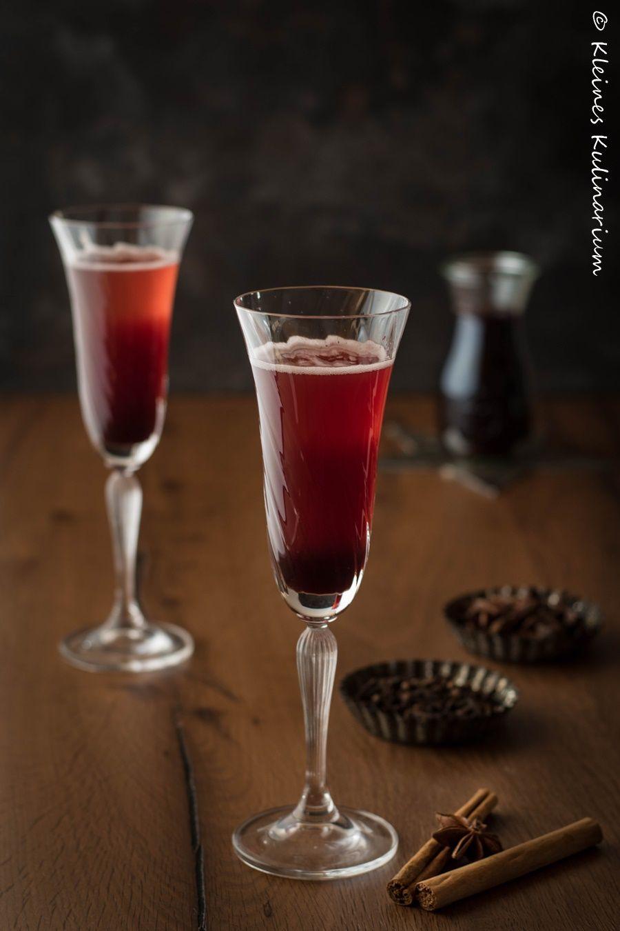 Prosecco mit Glühweinsirup - ein winterlicher Aperitif | Getränke ...