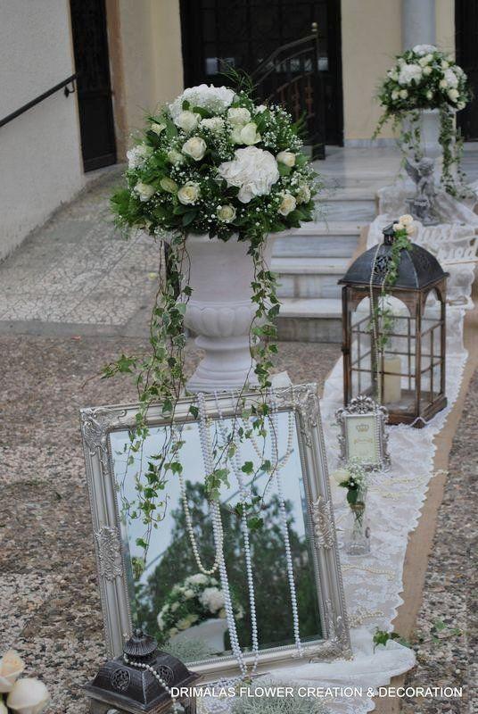 c8e427f6e8d1 Ρομαντικος vintage στολισμος γαμου με αμφορεις