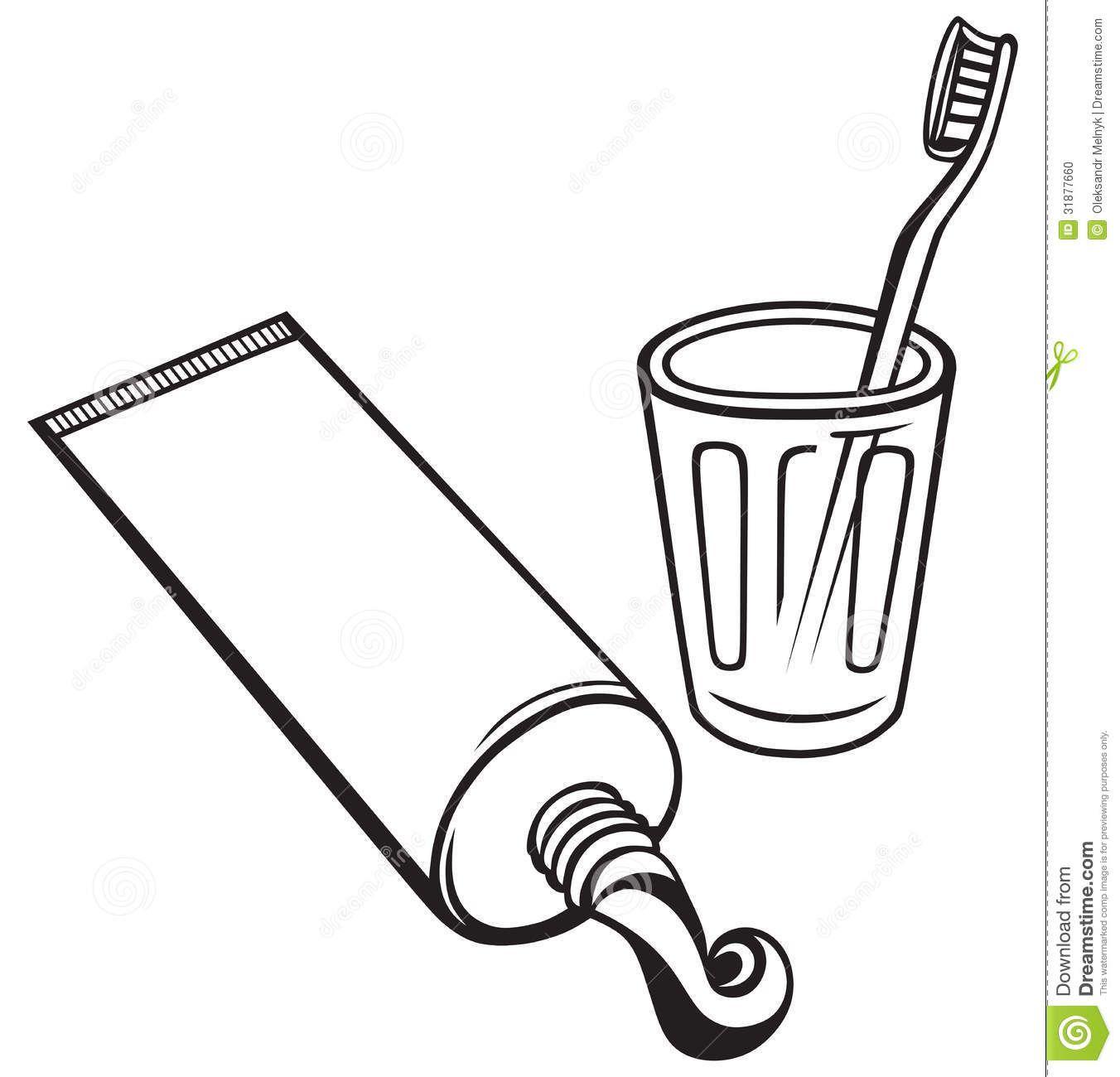 Outline Toothbrush Clip Art