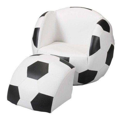 Genial Gift Mark Soccer Ball Chair With Ottoman