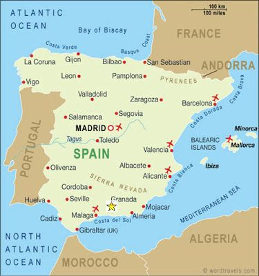 Where Is Granada Spain Located On A Map Location Granada Spain - Where is spain located