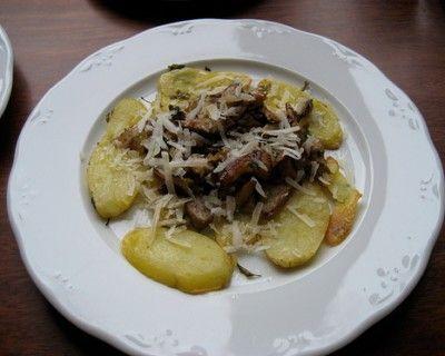 Receta de Año Viejo para celíacos: patatas asadas con setas shitake