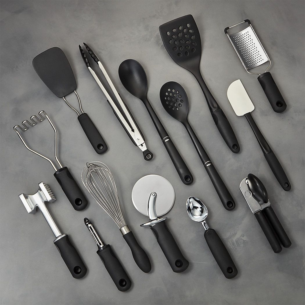Oxo 15 Piece Utensil Set Reviews Crate And Barrel Utensil Set Cooking Utensils Set Utensil