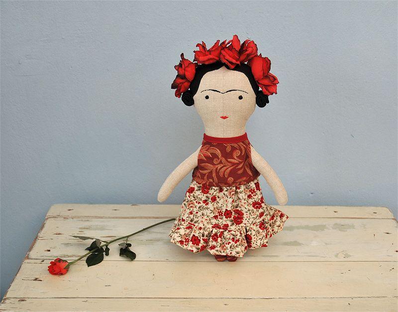 oh my goodness, a Frida doll! ♥♥ / autorská hračka / Zboží prodejce Břichopas toys | Fler.cz