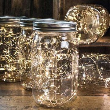 Mason Jar Fairy Lights Wide Mouth