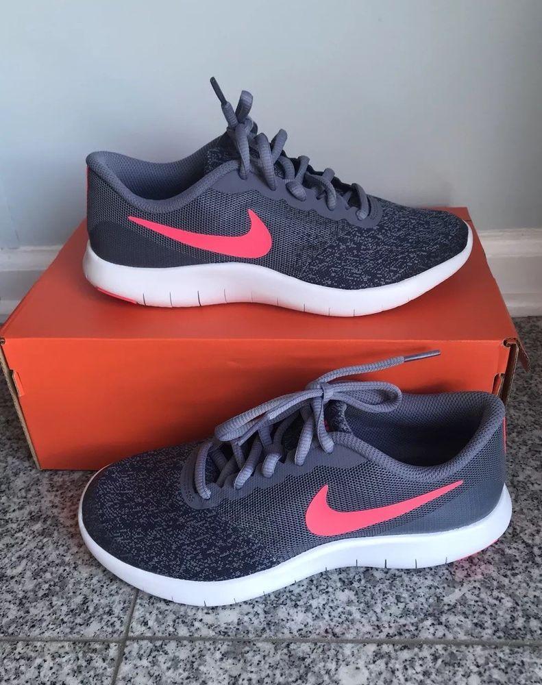 GS)Athletic Shoes Color:gray/pink SZ