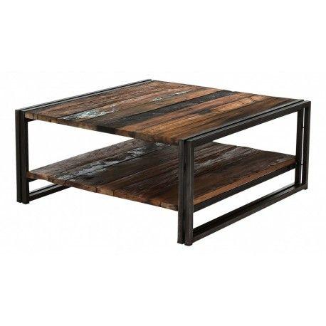 Table Basse Carree Style Factory Table Basse Table Basse Carree Mobilier De Salon