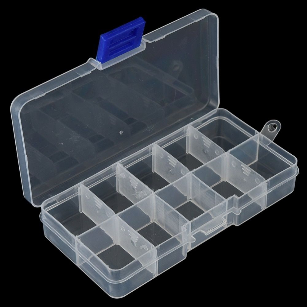 New 10 Compartments Storage Case Box Transparent Fishing Lure Square Fishhook Box Spoon Hook Bait Tackle Box Fish Accessory Box In 2020 Fishing Tackle Box Tackle Box Fishing Tackle