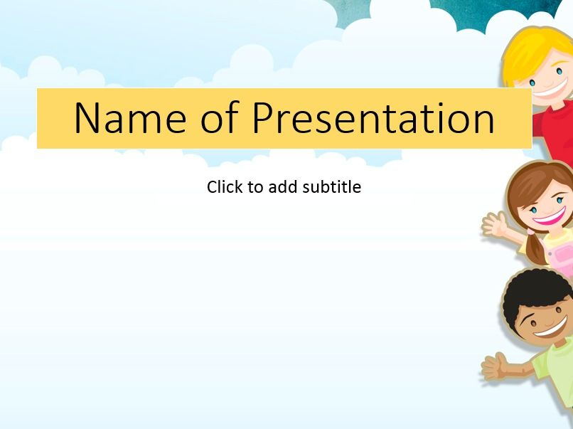 Free Point Template For Children Kids Templates Themes Ppt