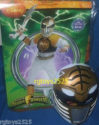 10d95a2db3 Mighty Morphin Power Rangers White Ranger Muscle Costume Size 4 6 s New  Tommy