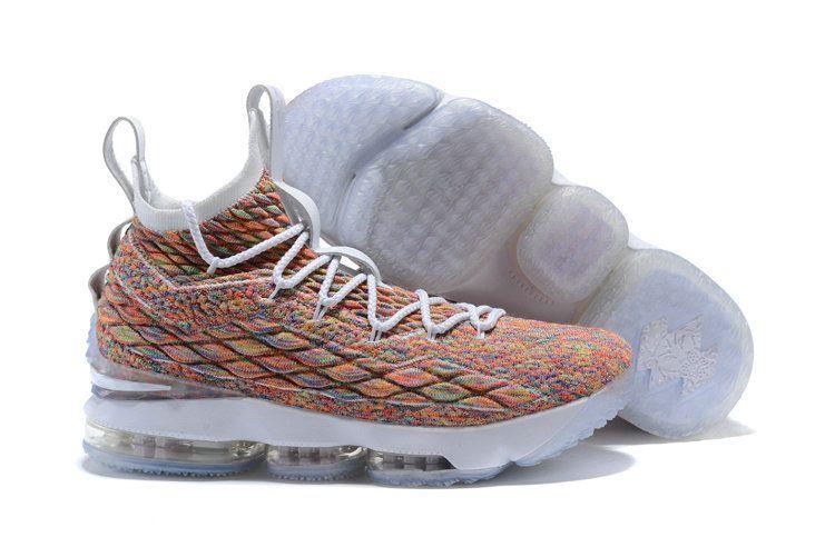 dba1f8e16045a 2018 Really Cheap Nike LeBron XV EP 15 Mens Basketball Shoes Cereal Pink  White AO1754-900