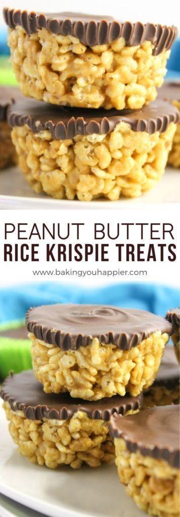 Peanut Butter Rice Krispies Treats | Baking You Happier