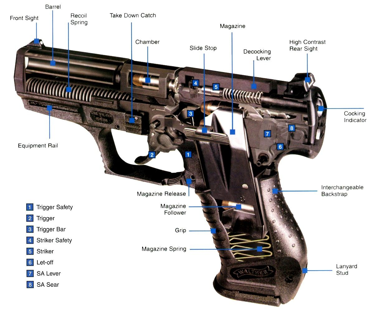 everyone should know the parts of a gun and how to break it down, clean it, reassemble, and fire ...