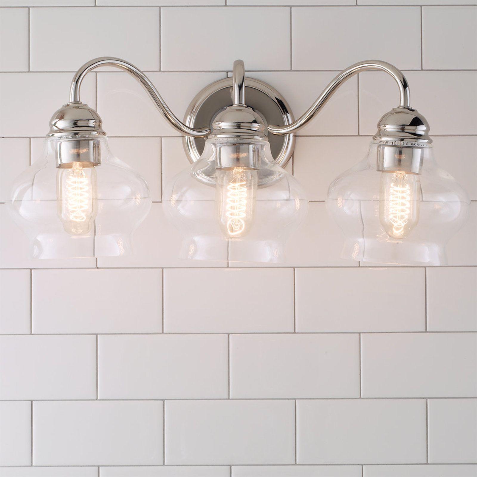Clear Cloche Glass Bath Light 2 Light