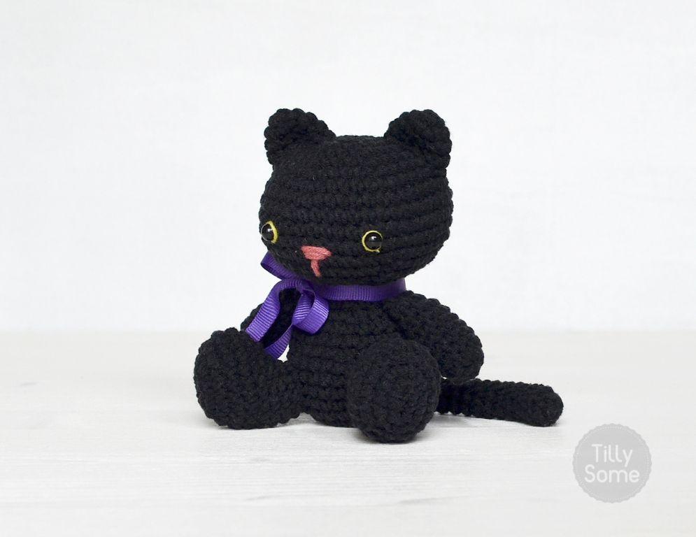 Black Cat (10cm) - free crochet pattern at Tilly Some. | Craft ...