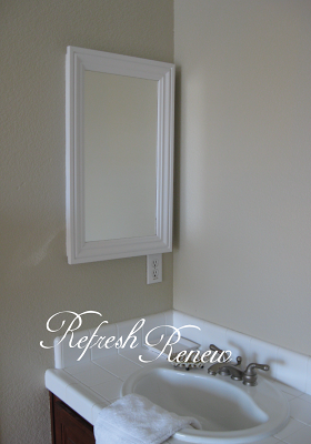Medicine cabinet make over how to update old medicine - How to redo bathroom cabinets for cheap ...